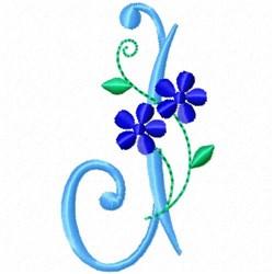 Monogram Blossom J embroidery design
