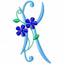 Monogram Blossom K embroidery design