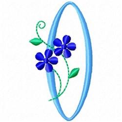 Monogram Blossom O embroidery design