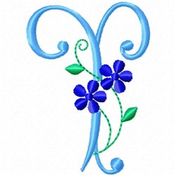 Monogram Blossom T embroidery design