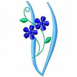 Monogram Blossom V embroidery design