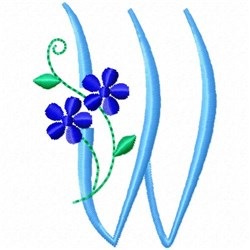 Monogram Blossom W embroidery design