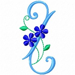 Monogram Blossom Z embroidery design