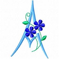 Monogram Blossom A embroidery design