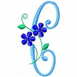 Monogram Blossom C embroidery design