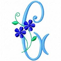 Monogram Blossom G embroidery design