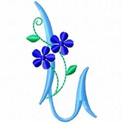 Monogram Blossom L embroidery design