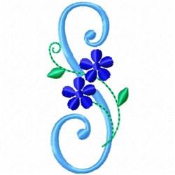 Monogram Blossom S embroidery design
