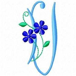 Monogram Blossom U embroidery design