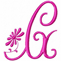 Monogram Pink G embroidery design