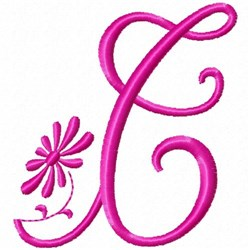 Monogram Pink T embroidery design