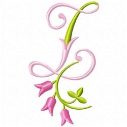 Monogram Pink Bloom Z embroidery design