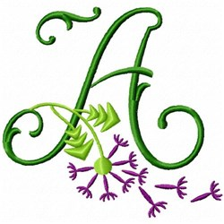 Monogram Bloom A embroidery design