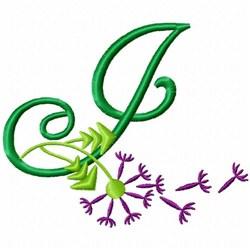Monogram Bloom J embroidery design