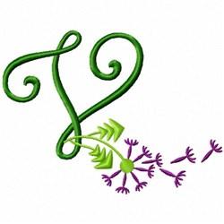 Monogram Bloom V embroidery design