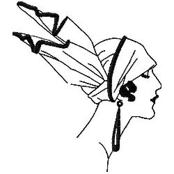 Art Deco Hat embroidery design