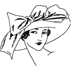 Wide Brimmed Hat & Bow embroidery design