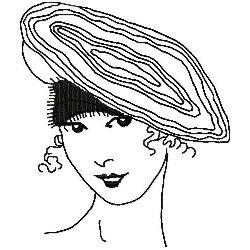 Cloche Beret embroidery design