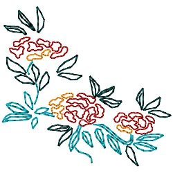 Oriental Floral Arrangement embroidery design