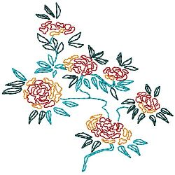 Oriental Flower Arrangement 2 embroidery design