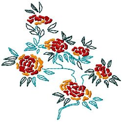 Blossoms embroidery design