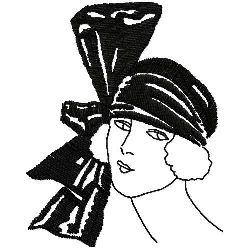 Scarf With Large Bow embroidery design