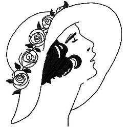 Wide Brimmed Cloche Hat embroidery design