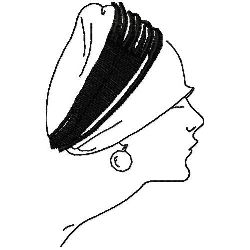 Art Deco Cloche Hat embroidery design