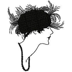 Feathery Cloche Hat embroidery design