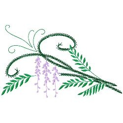 Ferns & Flowers 3 embroidery design