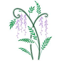 Ferns & Flowers 4 embroidery design