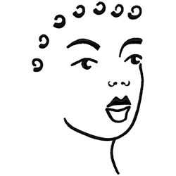 Female Head embroidery design