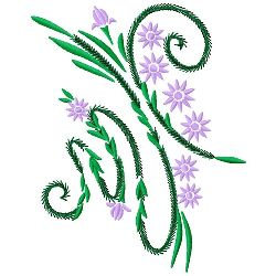 Ferns & Flowers 2 embroidery design