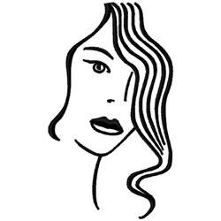 Female Head embroidery design