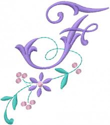Floral Alphabet embroidery design