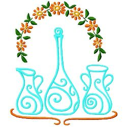 Carafe Pitcher & Vase embroidery design