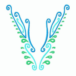Necklines embroidery design