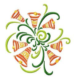 Bells Swirl embroidery design