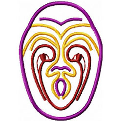 Etno Mask 5 embroidery design