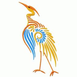 Oriental Bird embroidery design