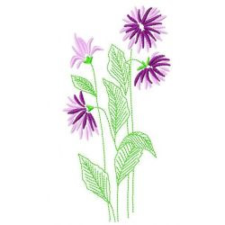 Violet Flowers embroidery design