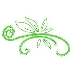 Stem And Leaf embroidery design
