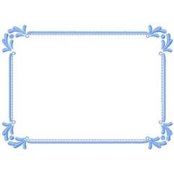 Decorative Corners Frame embroidery design