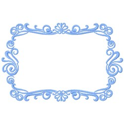 Frame Rectangle embroidery design