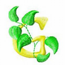 Vine Letter G embroidery design