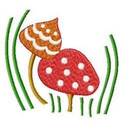 Two Mushrooms embroidery design