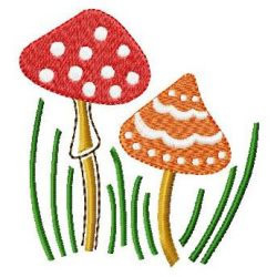 Tall Mushrooms embroidery design