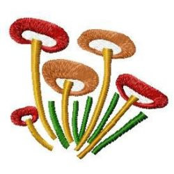 Mushroom Group embroidery design