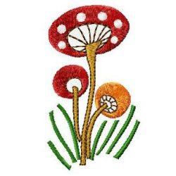 Mushroom Trio embroidery design