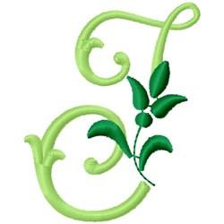 Greenery Monogram Font I embroidery design